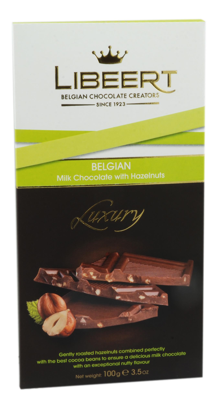 שוקולד חלב בלגי עם אגוזים