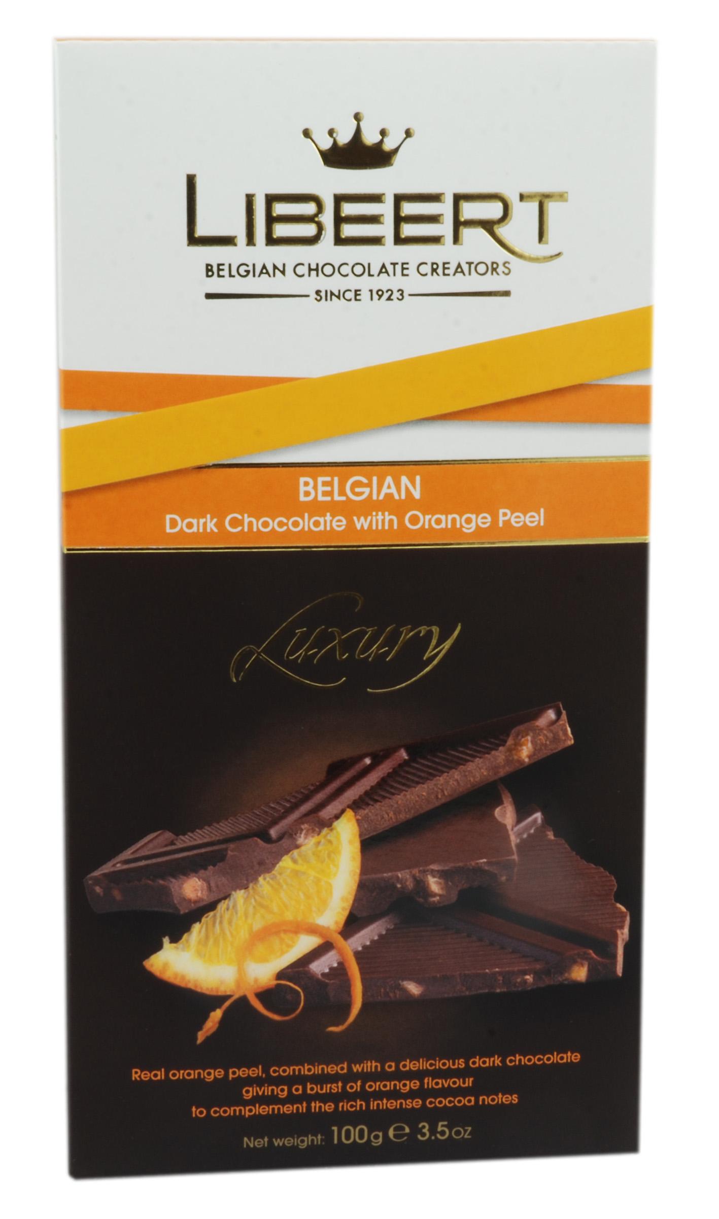 שוקולד מריר בלגי עם קליפות תפוז