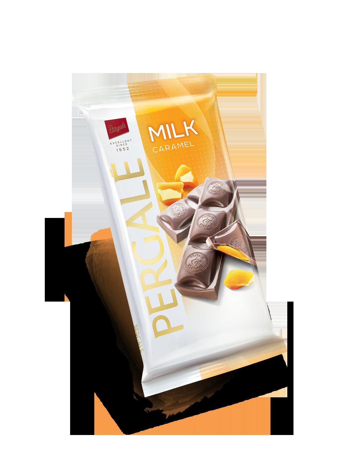 שוקולד חלב עם קרם קרמל