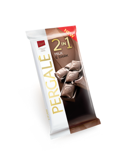 שוקולד 2 שכבות חלב ומריר