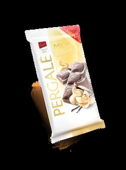 שוקולד חלב עם קרם וניל ושמנת
