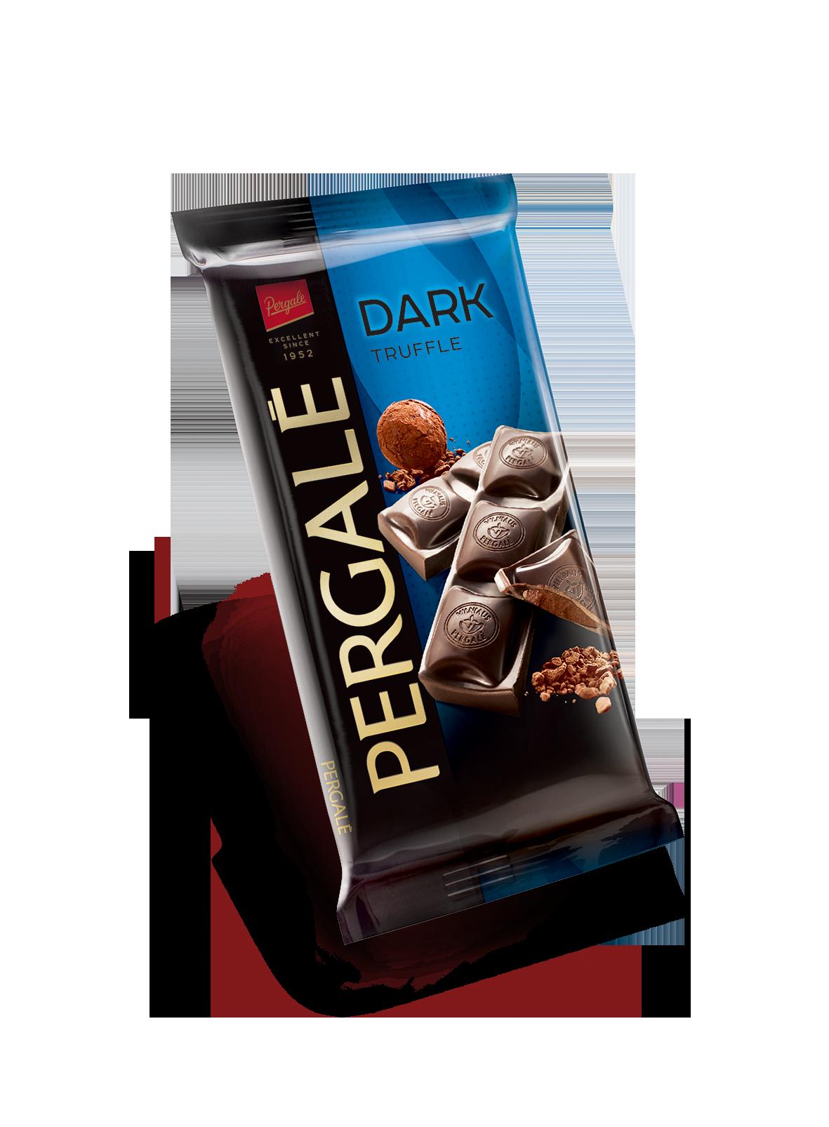 שוקולד מריר עם קרם טרופל