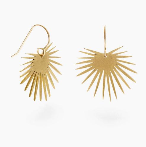 Fan Palm Drop Earrings