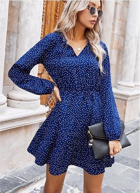 Joanna Long Sleeve V Neck Dress
