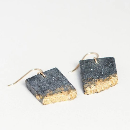 Concrete Rectangle Earrings