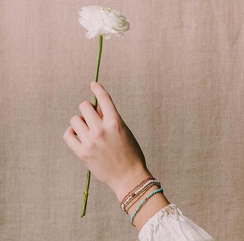 Delicate Stone Wrap Bracelet