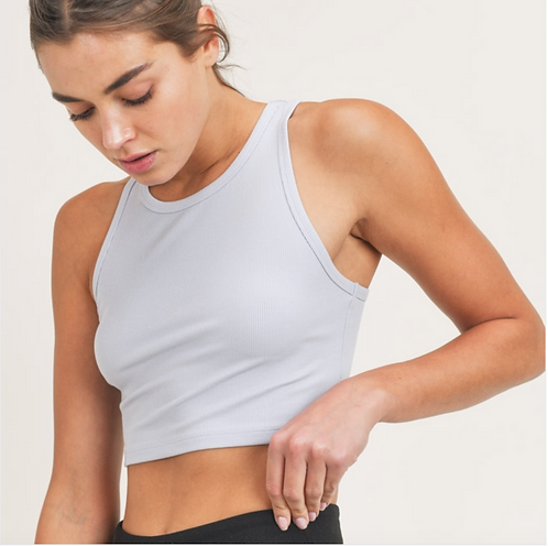 Cropped Racer Tank Top