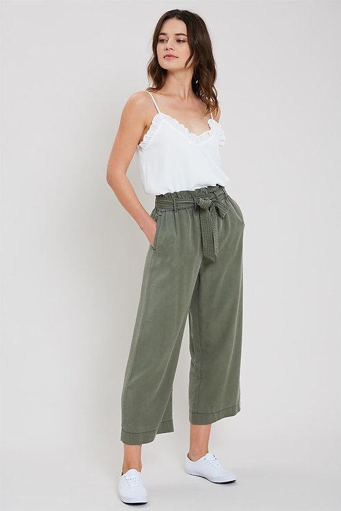 Belted Tencel Pants