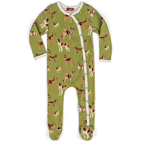 Snap Organic Cotton Footed Romper