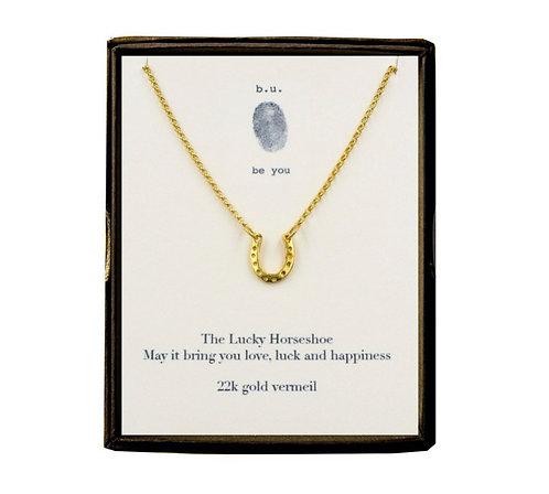 Horseshoe Necklace - gold