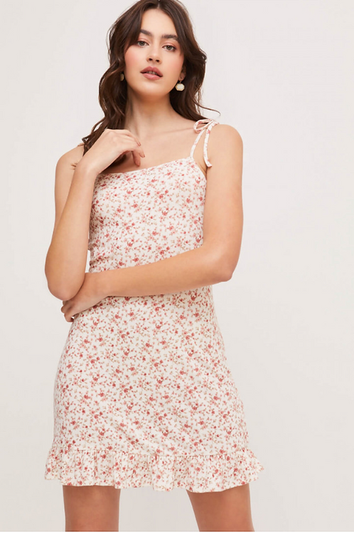 Flounce Hem Mini Dress