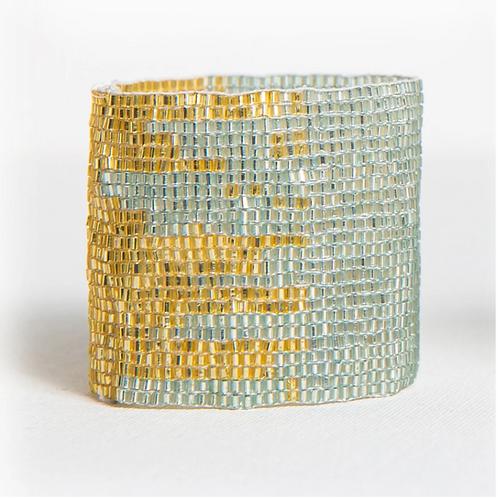 Sky + Gold Stretch Bracelet