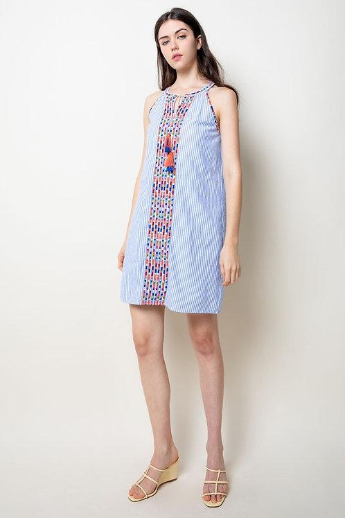 Halter Stipe Dress