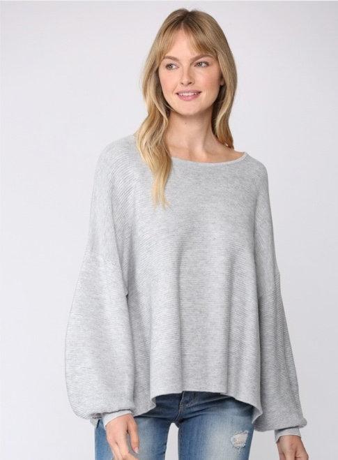 Rib Sweater Side Slit