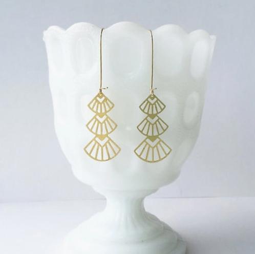 Art Deco Triangles Earrings