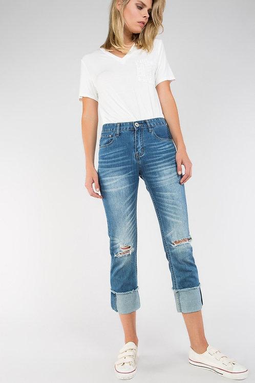 Cuffed Hem Jeans