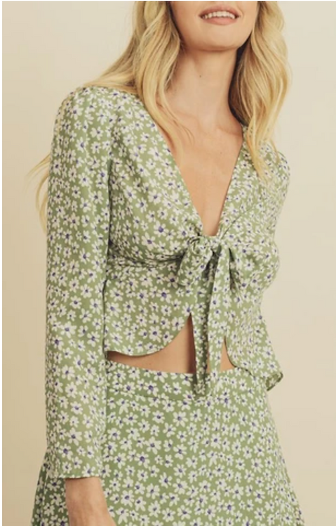 Wildflower Tie Front Blouse