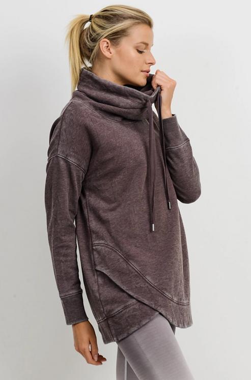 Cowl Neck Overlay Sweater