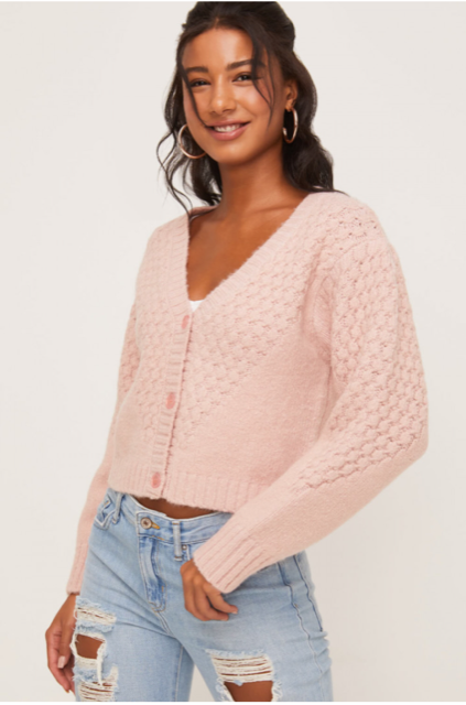 Textured Crop Cardigan