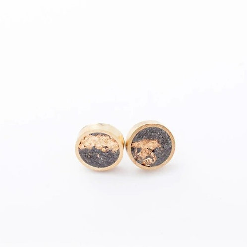 Concrete and Brass Studs - Small
