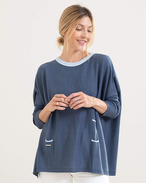 Crewneck Mini Pocket Sweater