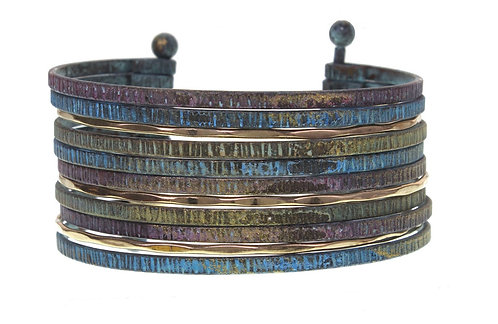Multi Piece Bangle Cuff Bracelet