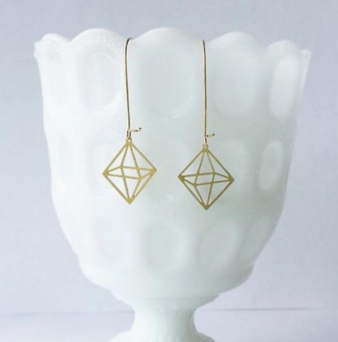 Octahedron Earrings