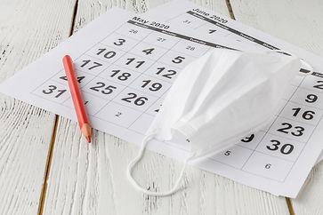 Simple desk calendar for 2020 with self