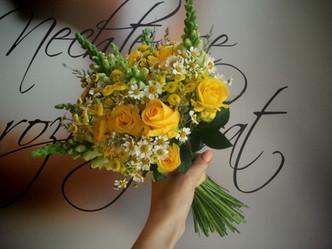 Svatba do lučna (Hledík, Heřmánek, tráva, Růže)