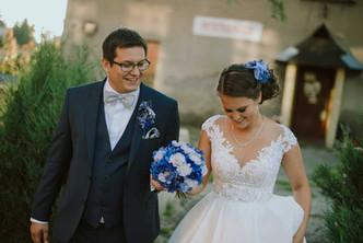 Svatba do modra, Hortenzie, Scabiosa, Ostrožka