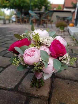 Svatba anglická Růže dvou barev, Eucalyptus