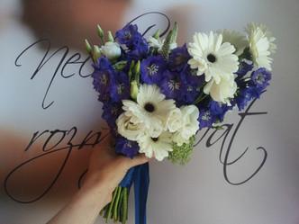 Svatba v zámecké zahradě v Lysé nad Labem (Ostrožka, Gerbery, Veronika, Eustoma, Kopr)