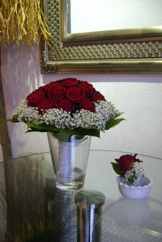 Svatba červená růže, nevěstin zavoj