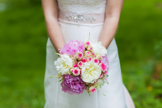 Svatba Pivoňky, drobnokvěté Růže a Astilbe