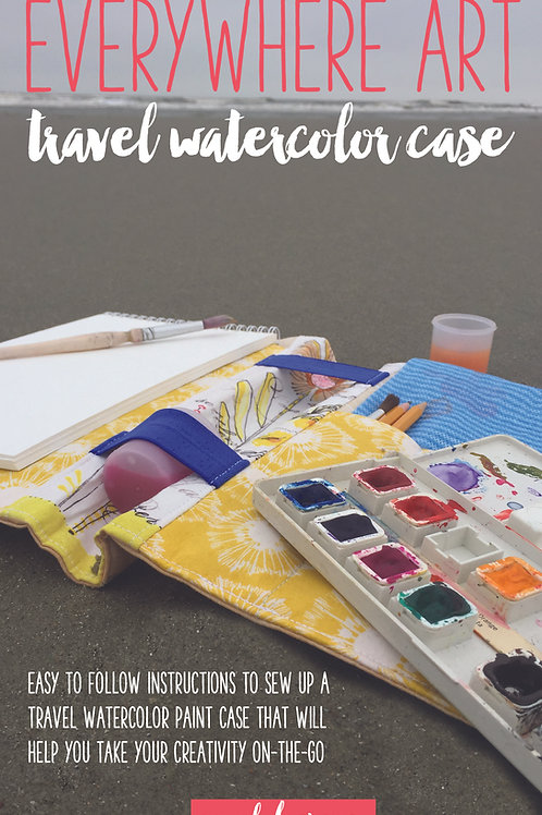 Everywhere Art Watercolor Case Sewing Pattern