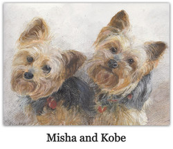 yorkshire terriers drawing