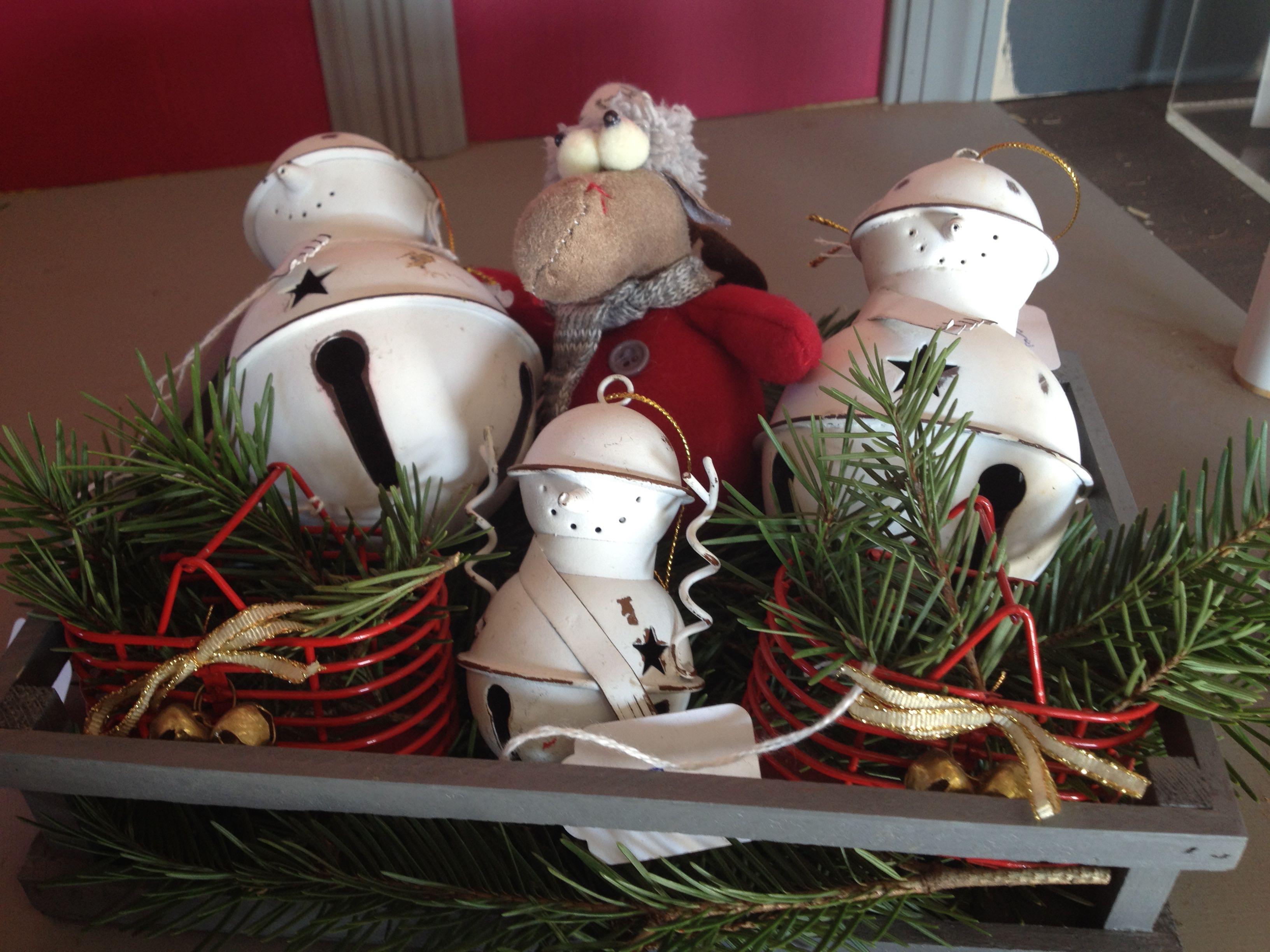 Snowman Bell Ornament