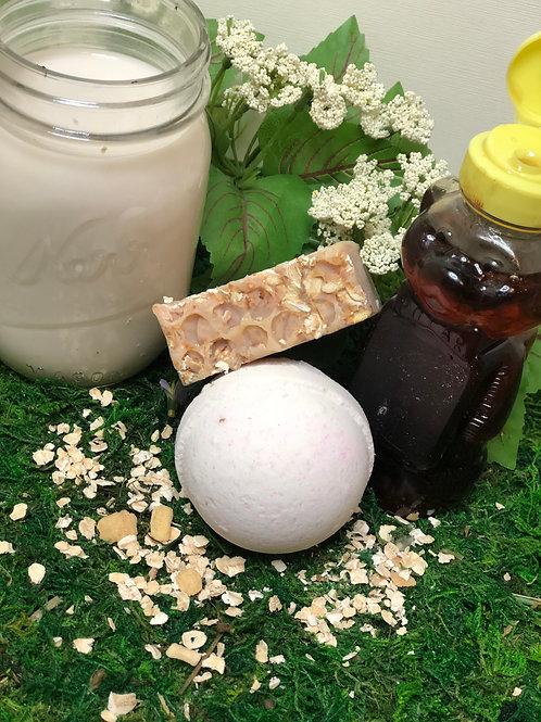 Almond milk,Oatmeal,& honey Body Bar