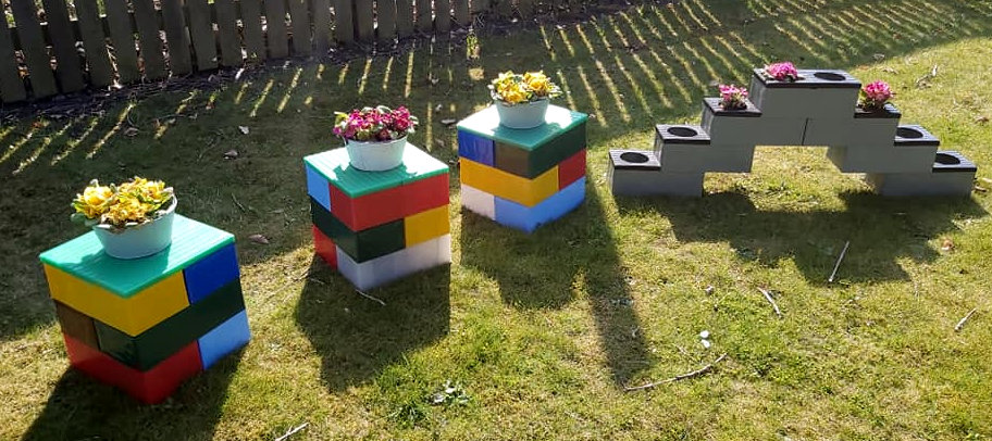 Small stools/ planters, available in any colour format.
