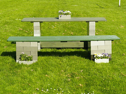 Refectory table and benches, any colour and size available.