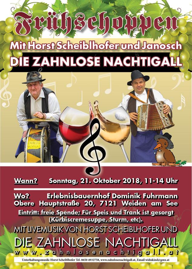 So., 21. Oktober: Frühschoppen am Erlebnisbauernhof Fuhrmann