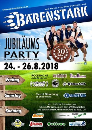 So., 26. August: Bärenstark Jubiläumsparty