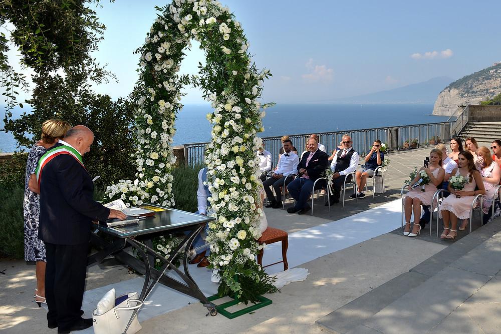 Villa Fondi - Sea view ceremony venue - Piano di Sorrento