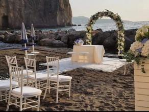 Civil beach wedding on the coast of Sorrento, a desire which might come true!