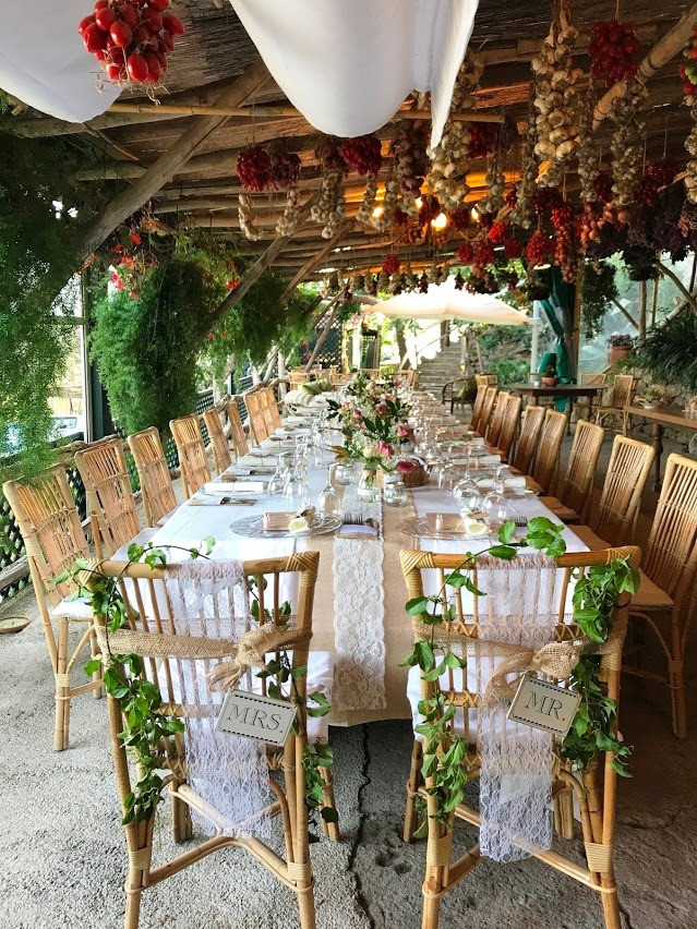 The restaurant has a very special charm that could be defined as rustic-chic