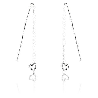Cœurs suspendus - Or et petit diamant