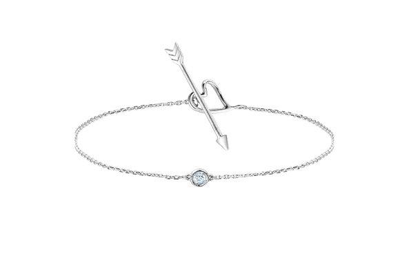 """Bracelet """"Nude"""" - Diamant sur or blanc"""