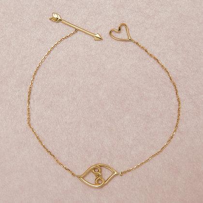 """Bracelet """"Entrelacs"""" - Or jaune petit modèle"""