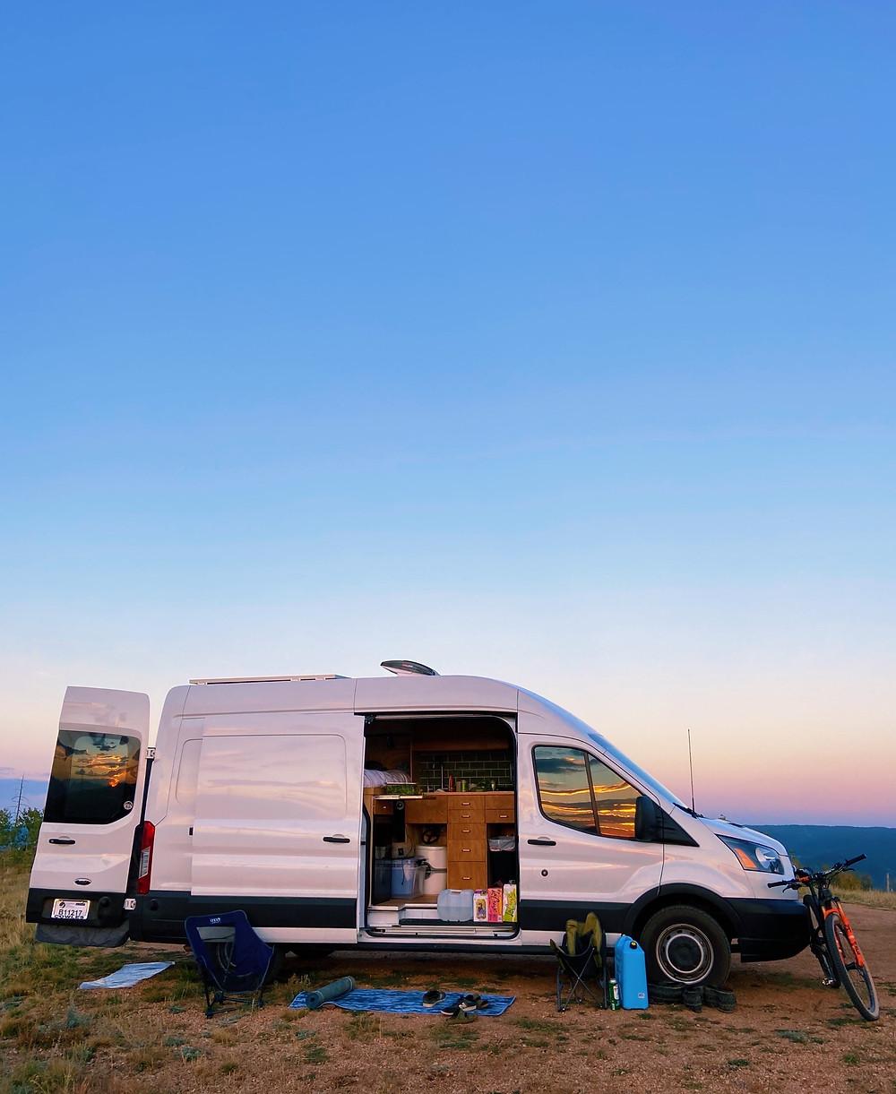 Van life, sunset