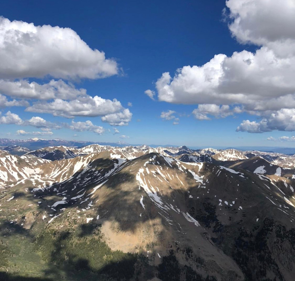 view from the top of mt. elbert